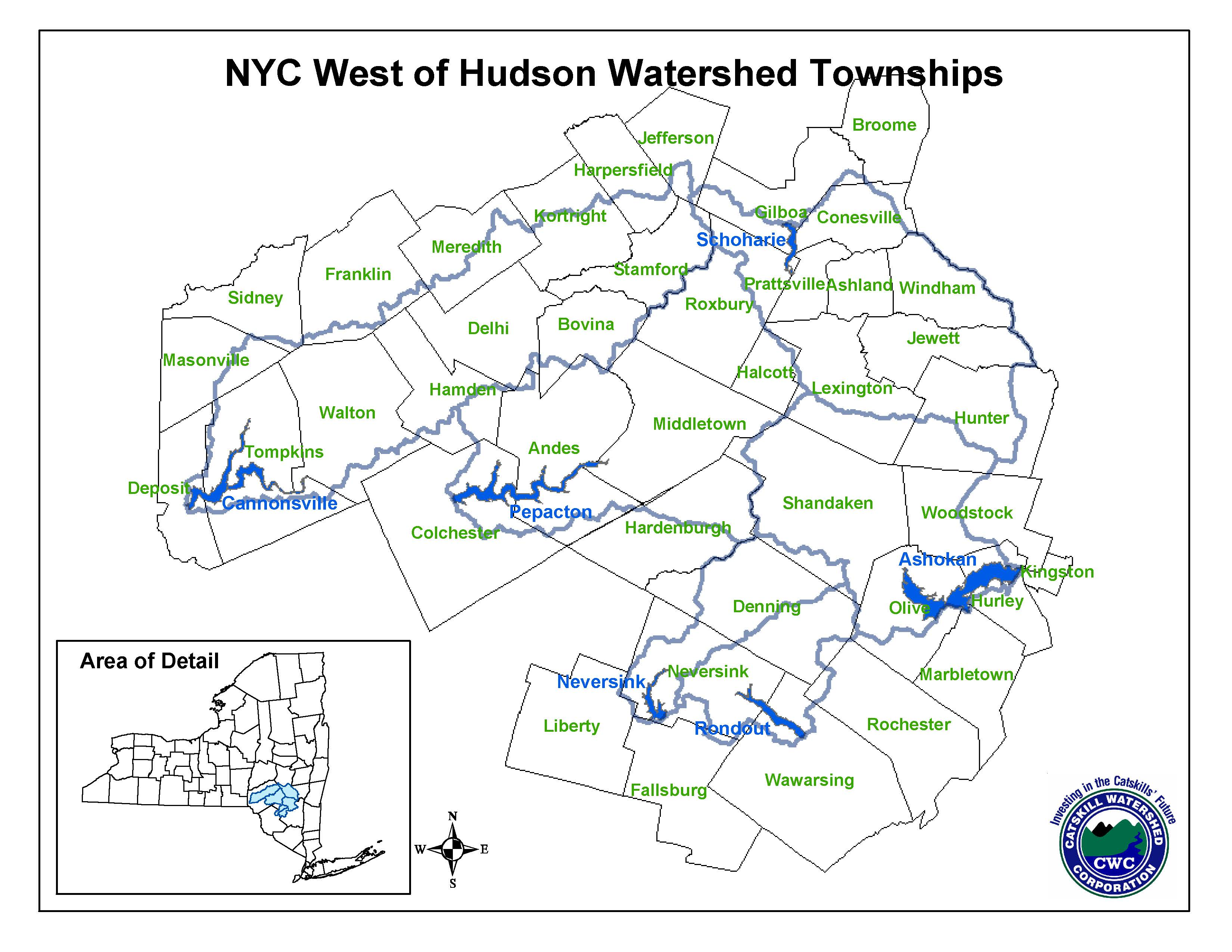 Maps | Catskill Watershed Corporation City Map Of Delaware on
